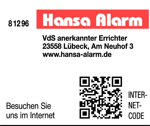 Anzeige Hansa-Alarm GmbH