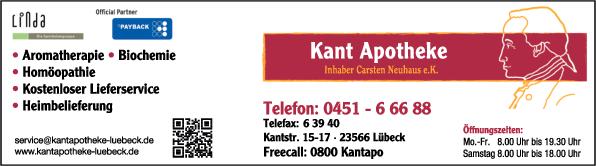 Anzeige Kant Apotheke
