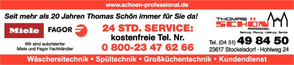 Anzeige Schön Thomas professional e.K.