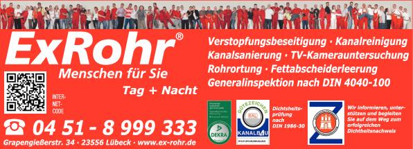 Anzeige ExRohr GmbH Rohrreinigung