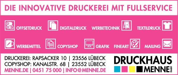 Anzeige Druckhaus Menne GmbH