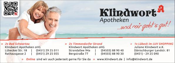 Anzeige Klindwort Apotheke Lübecker Straße