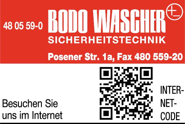 Anzeige Bodo Wascher - Sicherheitstechnik