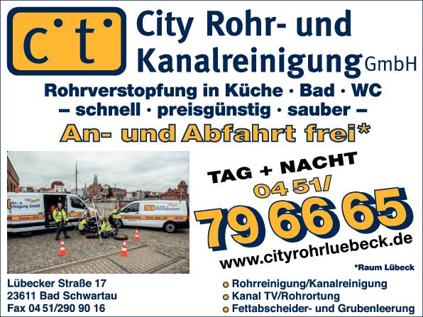 Anzeige City Rohr- und Kanalreinigung GmbH