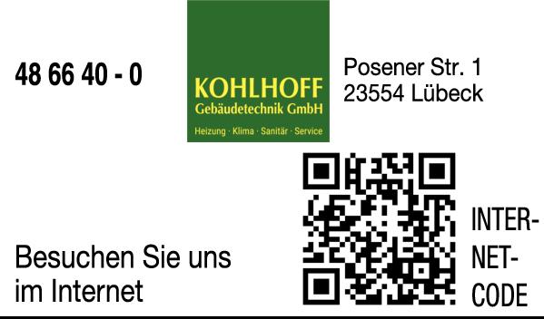 Anzeige Kohlhoff Gebäudetechnik GmbH