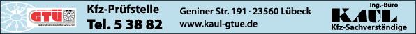 Anzeige Kaul GTÜ Kfz-Prüfstelle Ingenieurbüro