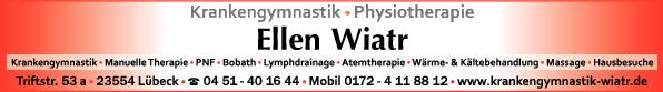 Anzeige Wiatr Ellen Praxis für Krankengymnastik