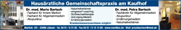 Anzeige Hausärztliche Gemeinschaftspraxis am Kaufhof Bartsch