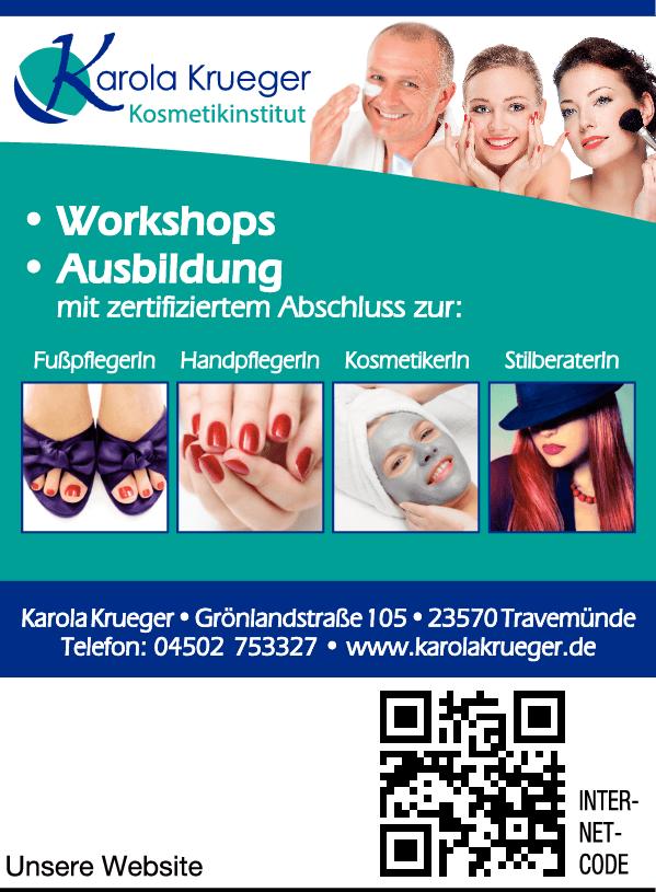 Anzeige Krueger Karola Kosmetikstudio