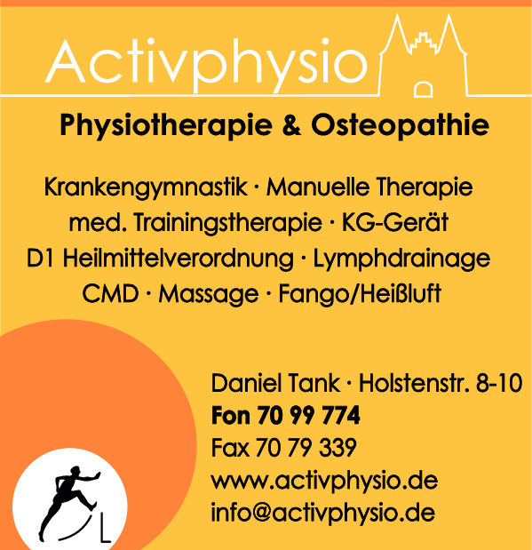 Anzeige Activphysio - Physiotherapie & Osteopathie, Daniel Tank