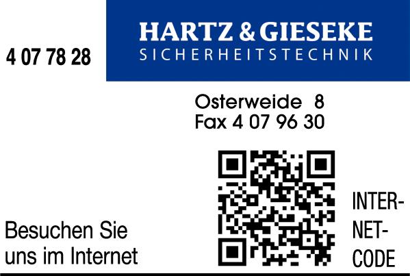 Anzeige HARTZ & GIESEKE Sicherheitstechnik GmbH