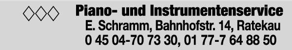 Anzeige Schramm Eckhard Piano- und Instrumentenservice