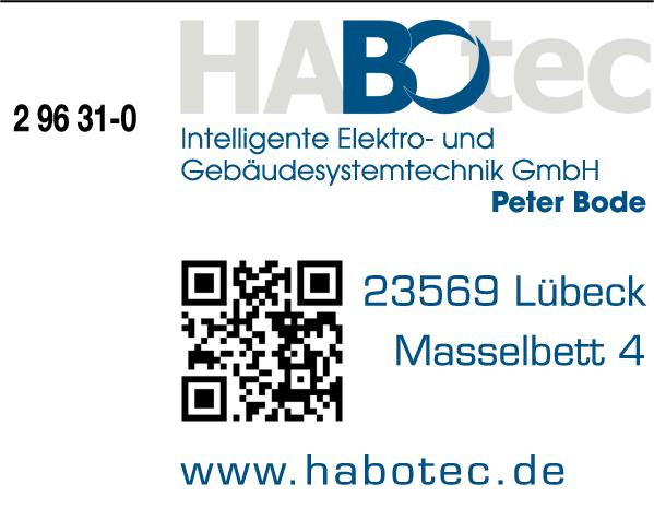 Anzeige HABOTEC Intelligente Elektro- u.Gebäudesystemtechnik GmbH