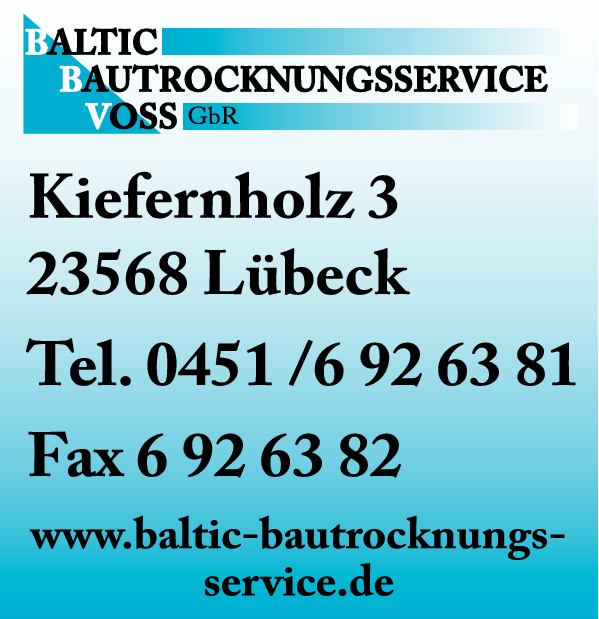 Anzeige Baltic Bautrocknungsservice Voss GbR