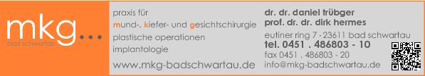 Anzeige MKG Bad Schwartau Dr. Trübger / PD Dr. Dr. Hermes
