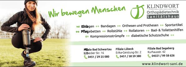 Anzeige Klindwort Sanitätshaus & Orthopädietechnik GmbH & Co. KG