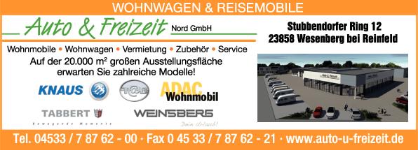 Anzeige Auto & Freizeit Nord GmbH & Co. KG