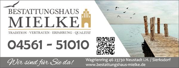 Anzeige Bestattungshaus Mielke