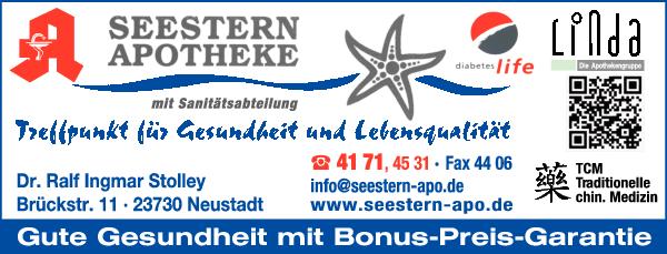 Anzeige Seestern Apotheke, Inh. Dr. Ralf Ingmar Stolley e. K.