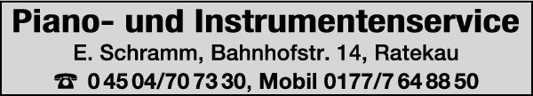 Anzeige Piano- und Instrumentenservice Eckhart Schramm
