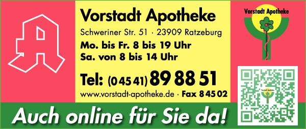 Anzeige Vorstadt Apotheke