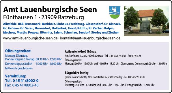 Anzeige Amt Lauenburgische Seen