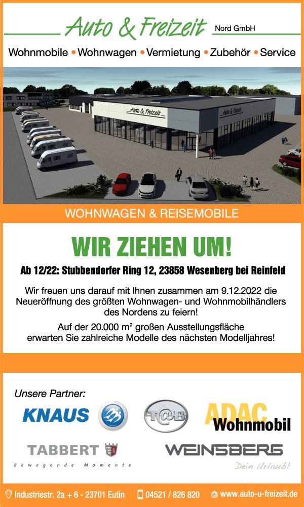 Anzeige Auto & Freizeit Nord GmbH & Co. KG Autohandel