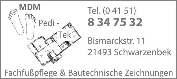 Anzeige MDM Pedi-Tek