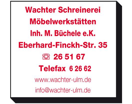 Schreinerei Wachter Inh M Buchele E K In Ulm In Das Ortliche