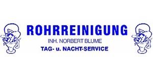 Kundenlogo von Rohrreinigung Blume Inh. Norbert Blume