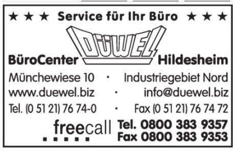 Düwel BüroCenter Hildesheim GmbH & Co. in Hildesheim ⇒ in Das Örtliche