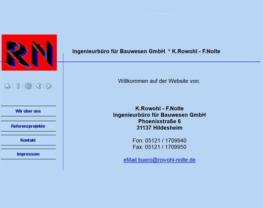 Kundenbild groß 1 Rowohl und Nolte Ingenieurbüro für Bauwesen GmbH Ingenieurbüro