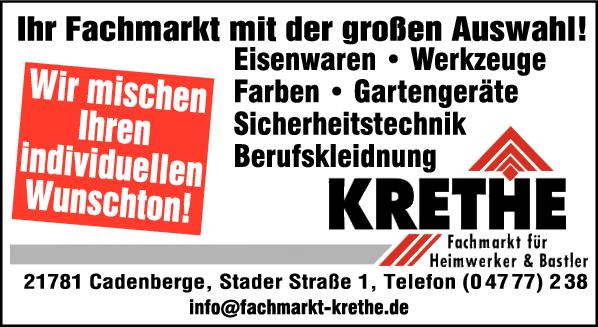 Anzeige Ernst Krethe Fachmarkt
