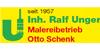 Kundenlogo von Malereibetrieb Otto Schenk Inh. Ralf Unger