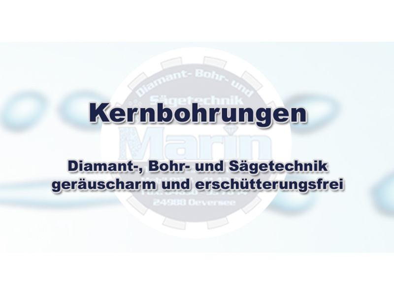 Betonbohr- Sägetechnik Marin