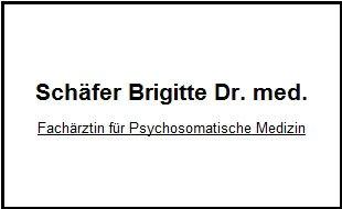 Schäfer Brigitte Dr.med. Fachärztin für Psychosomatik/Psychotherapie/Psychiatrie/Traumatherapie