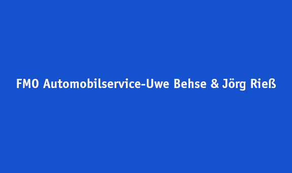 FMO automobil-service Behse & Riess