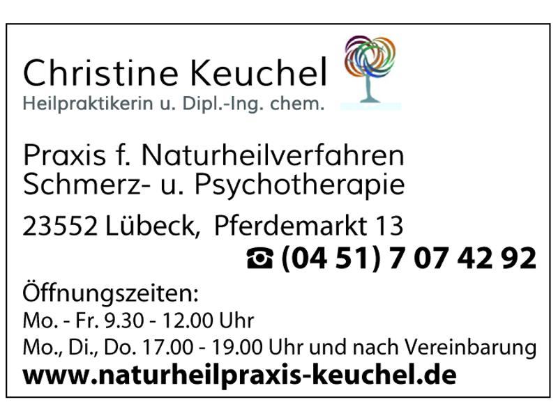 Keuchel Christine Dipl. Ing. chem. Praxis für Naturheilverfahren, Schmerz- und Psychotherapie, Heilpraktikerin