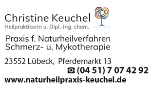 Logo von Keuchel Christine Praxis für Naturheilverfahren, Schmerz- und Mykotherapie, Heilpraktikerin Dipl. Ing. Chem.