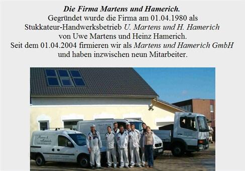 Martens und Hamerich GmbH - Stuck- u. Baugeschäft
