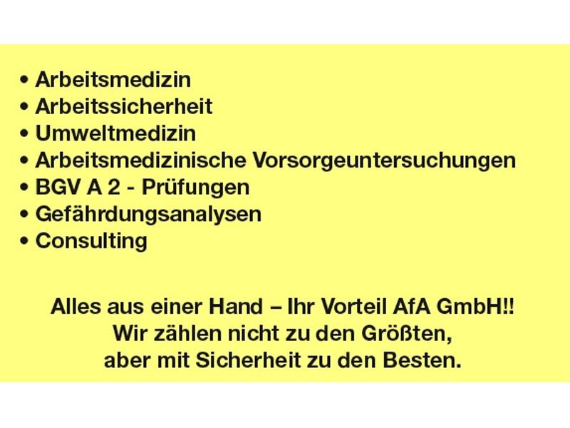 AFA GmbH Arbeitsgemeinschaft für Arbeitssicherheit