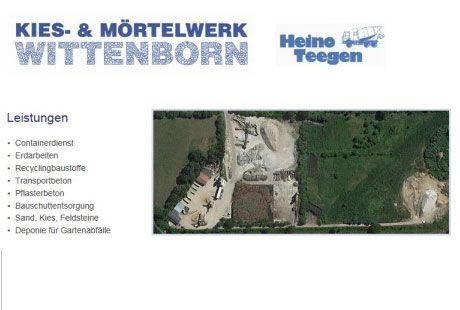 Kies u. Mörtelwerk Wittenborn