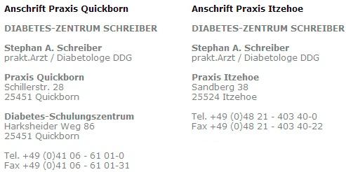 Diabetes-Zentrum Schreiber Stephan A.