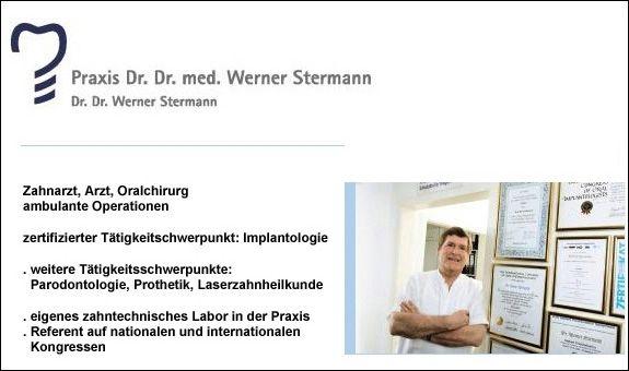 Stermann Werner Dr. Dr. Zahnarzt Arzt Oralchirurg Implantologie