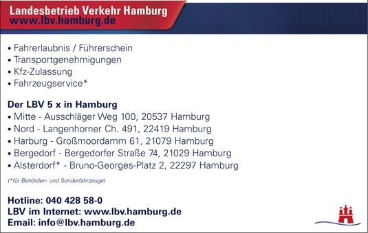 Landesbetrieb Verkehr Freie u. Hansestadt Hamburg Behörde f. Inneres
