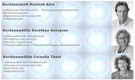 Alex Manfred, Goergens Dorothea u. Theel Cornelia