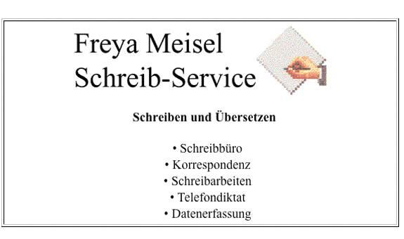 Schreibservice Freya Meisel