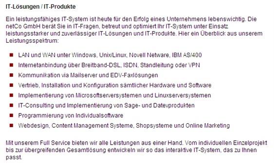netCo Gesellschaft für network & computer mbH