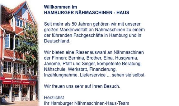 Hamburger Nähmaschinen - Haus HNH OHG