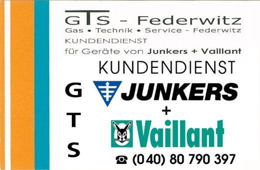 Junkers und Vaillant Gasheizung Kundenservice GTS-Federwitz